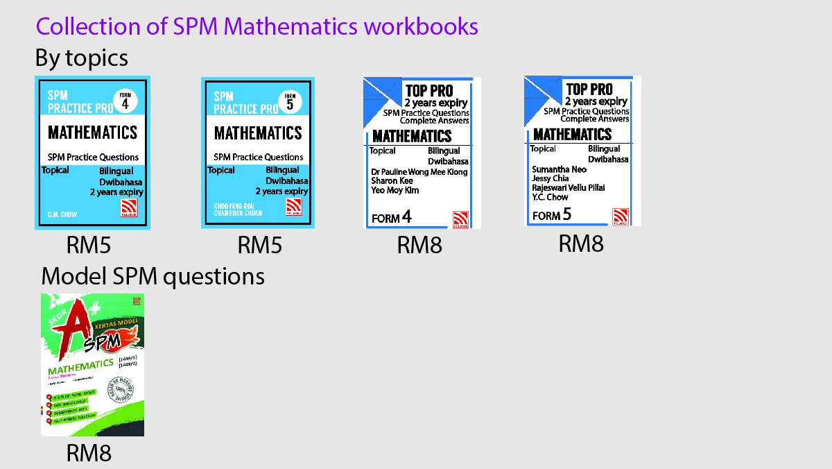 Collection of Mathematics workbooks